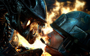 aliens colonial marines face off wallpaper